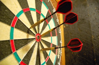 Play a game of darts in the bar lounge at Jesmond Royal British Legion Club