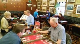 Regular backgammon meets